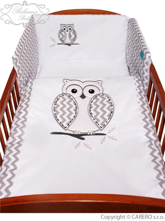 5-dielne posteľné obliečky Belisima Múdra Sovička 100/135 biele