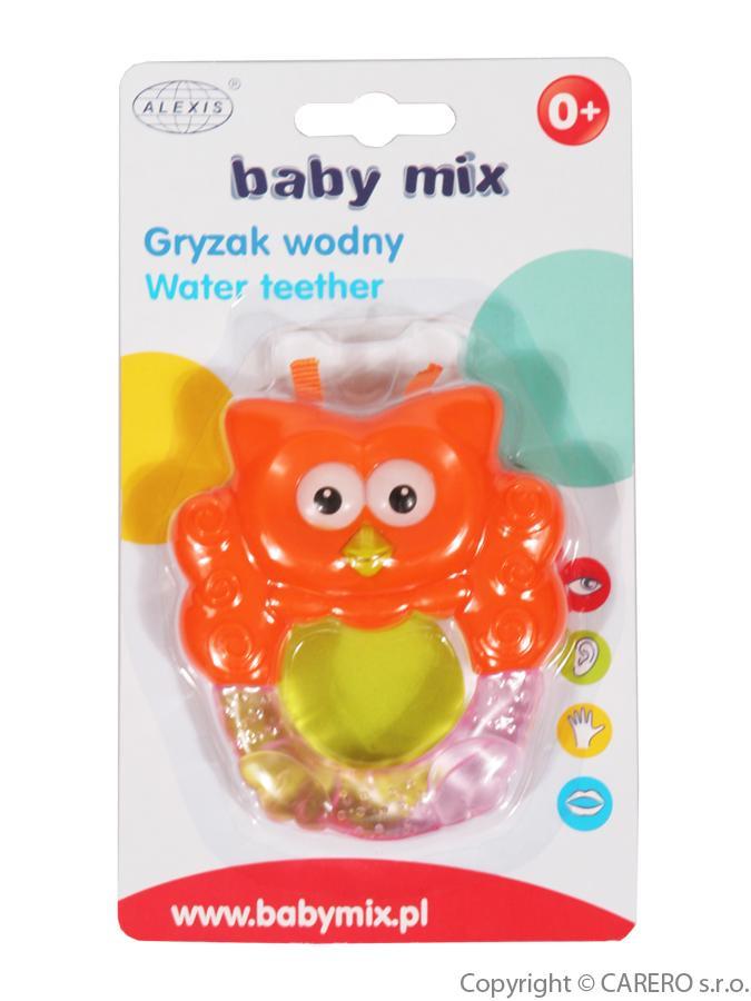 Chladiace hryzátko Baby Mix Sovička oranžová