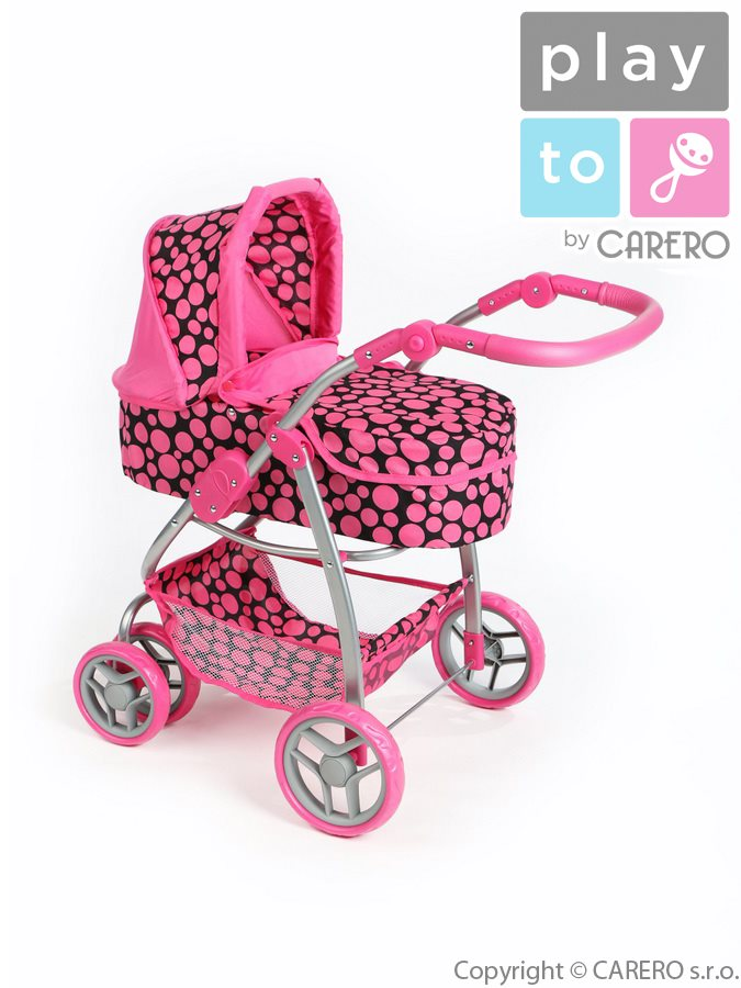 Multifunkčný kočík pre bábiky PlayTo Jasmínka ružový