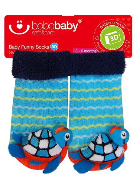 Ponožky dojčenské s hrkálkou Bobo Baby korytnačka