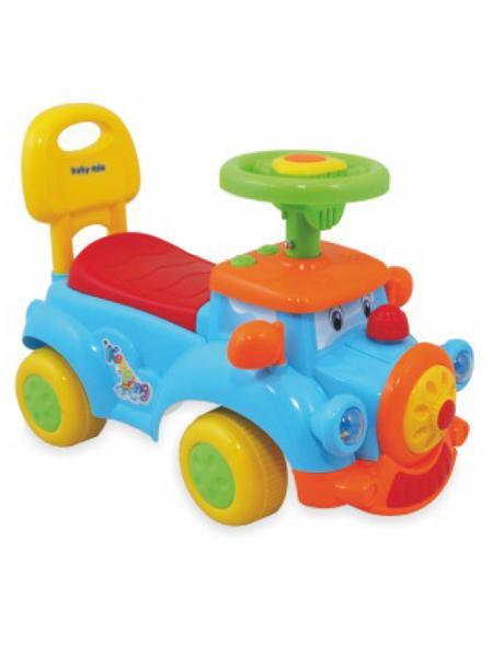 Detské jezdítko so zvukom Baby Mix Happy Train modré