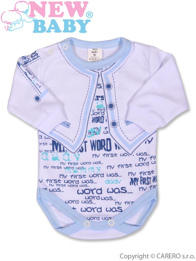 Dojčenské body s dlhým rukávom New Baby Jeans modré