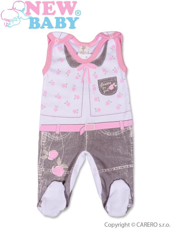 Dojčenské dupačky New Baby Jeans ružové