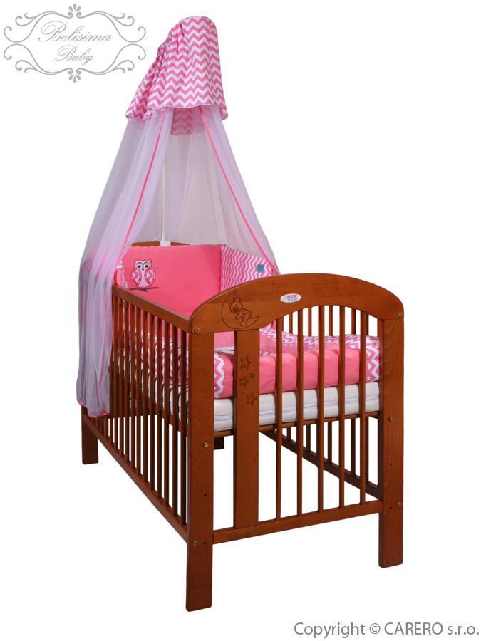 6-dielne posteľné obliečky Belisima Múdra Sovička 90/120 ružové