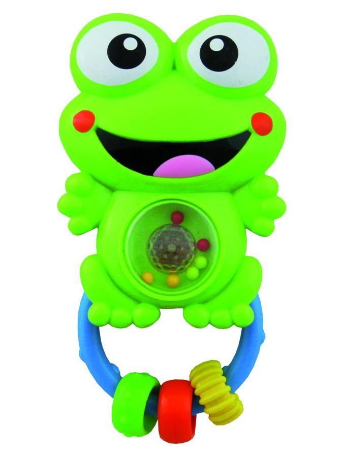 Detská hrkálka so zvukom Baby Mix žaba