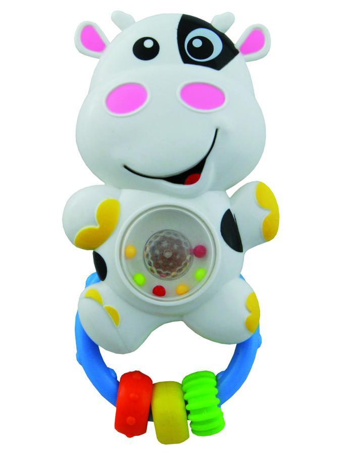 Detské hrkálka so zvukom Baby Mix kravička