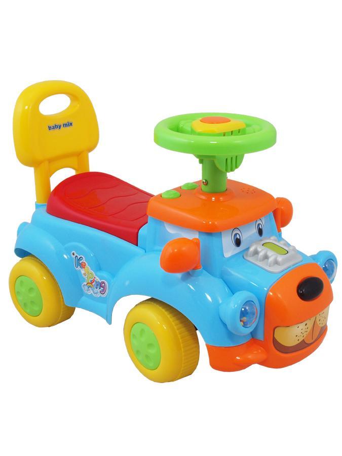 Detské Jezdítko so zvukom Baby Mix Happy Dog blue