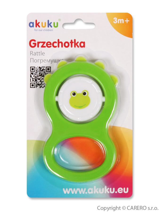 Detská hrkálka Akuku zelená