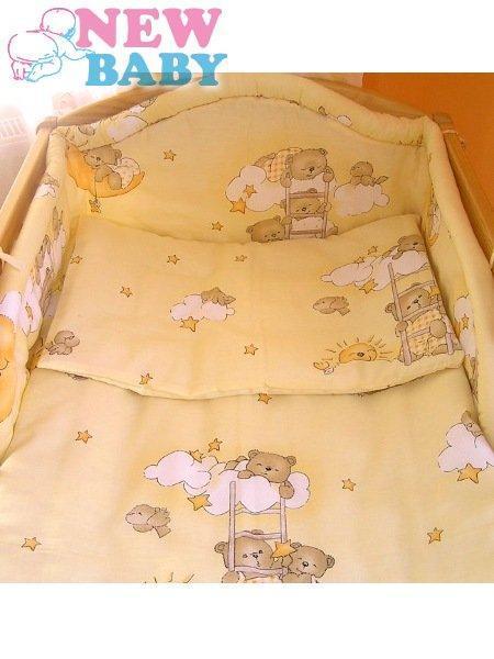 3-dielne posteľné obliečky New Baby 100/135 cm bežové s medvedíkom