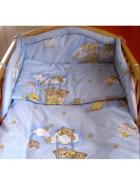 3-dielne posteľné obliečky New Baby 100/135 cm modré s medvedíkom