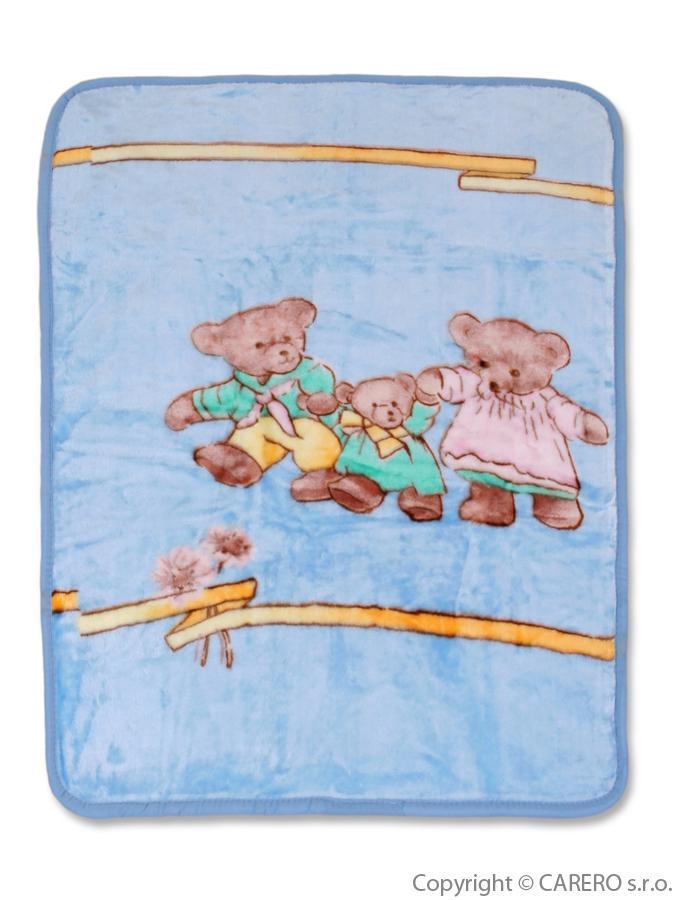 Detská španielska deka s obrázkom Baby Mix modrá
