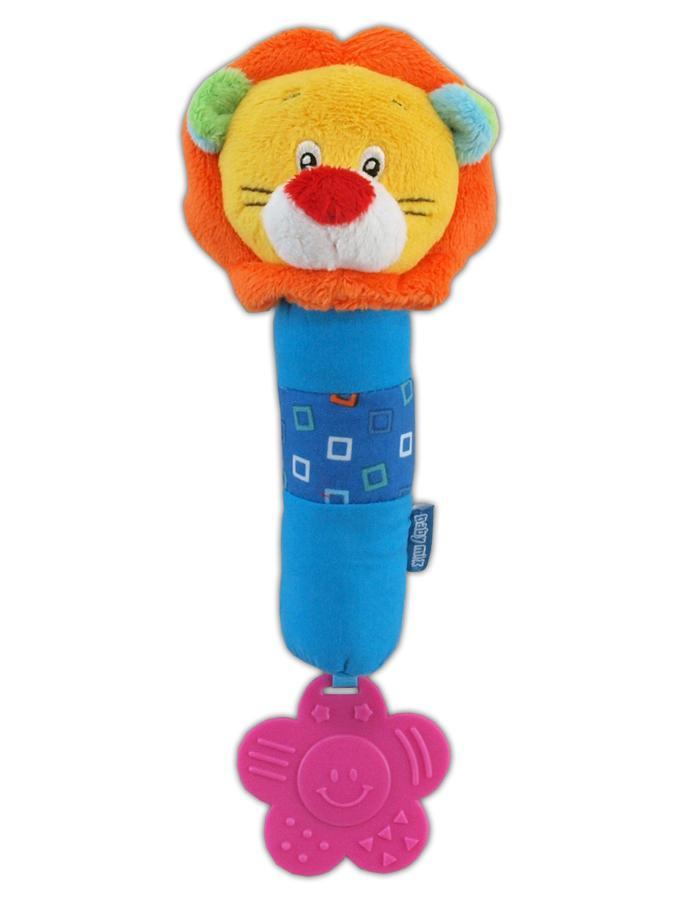 Detská plyšová hračka s hrkálkou Baby Mix lev