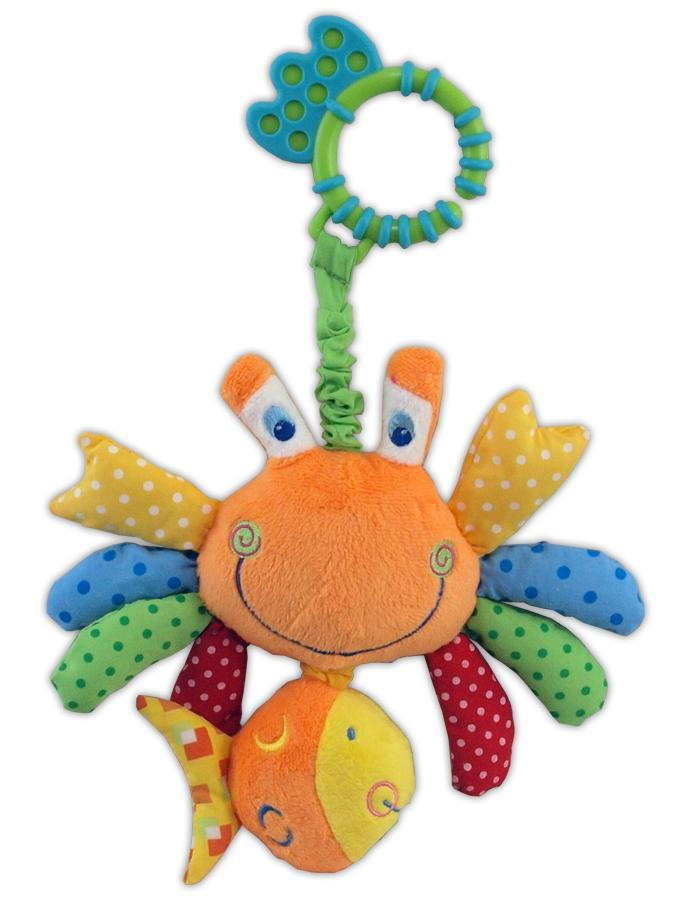 Plyšová hračka s vibráciou Baby Mix krab
