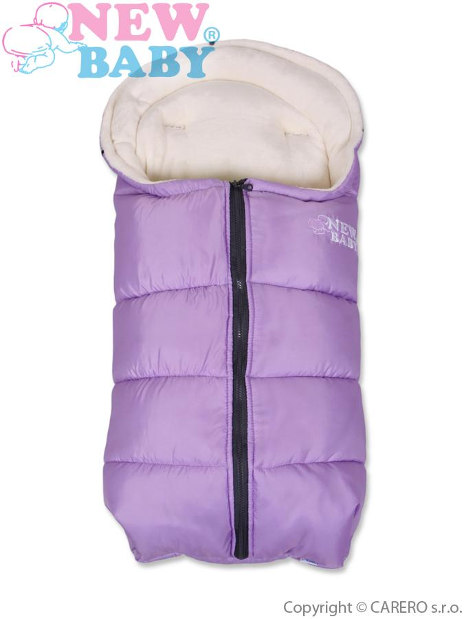 Zimný fusak New Baby Fluffy Purple