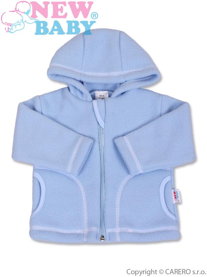 Dojčenský fleecový kabátik New Baby Kubík modrý