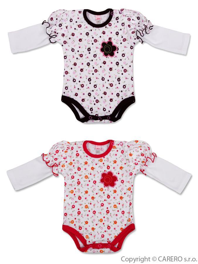 Dojčenské body s dlhým rukávom Bobas Fashion Amálka - 2ks