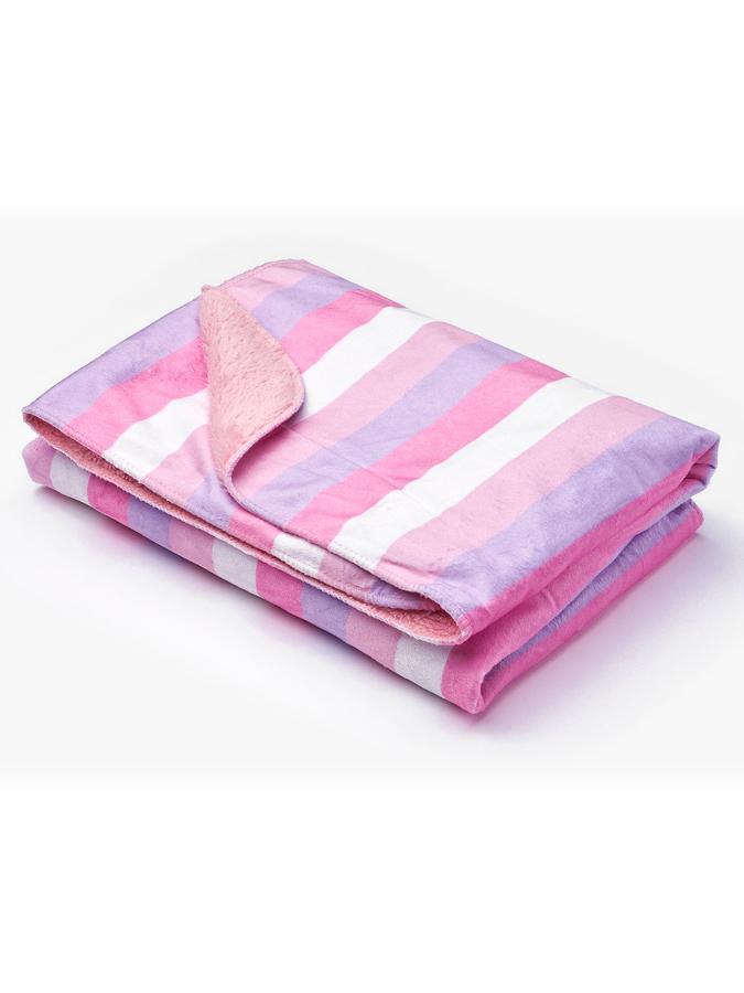 Detská deka Sensillo Pruhy 75x100 cm pink