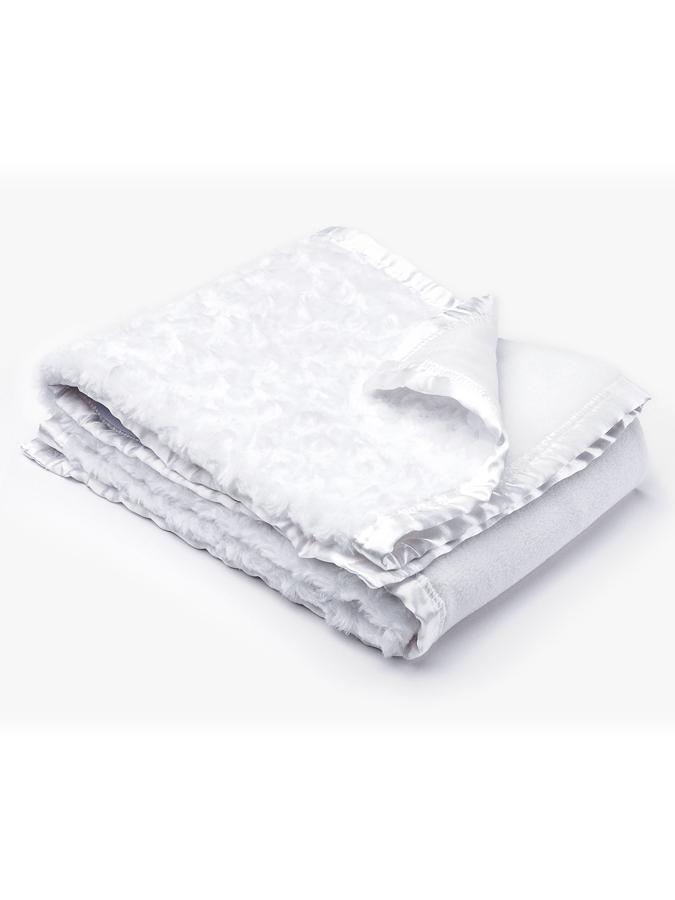Detská deka Sensillo Deluxe 75x100 cm white