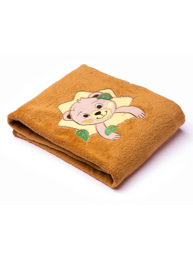 Detská deka Sensillo Lesné Zvieratká 75x100 cm brown