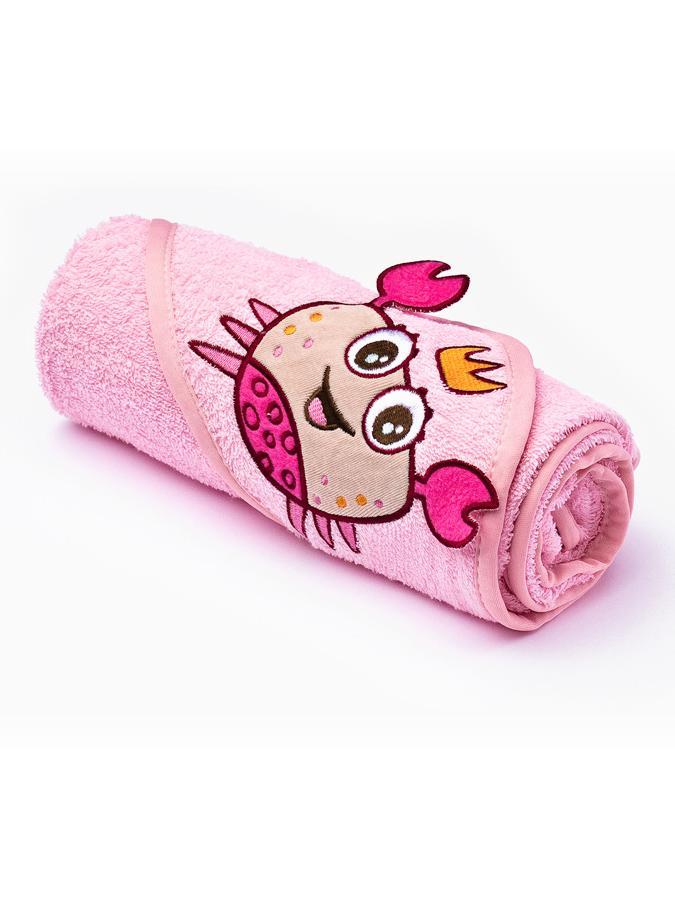 Detská osuška Sensillo 3D Zvieratká 75x75 cm pink