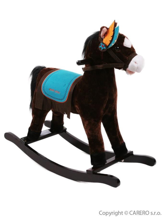 Hojdací koník BAYO Mohawk hnedý