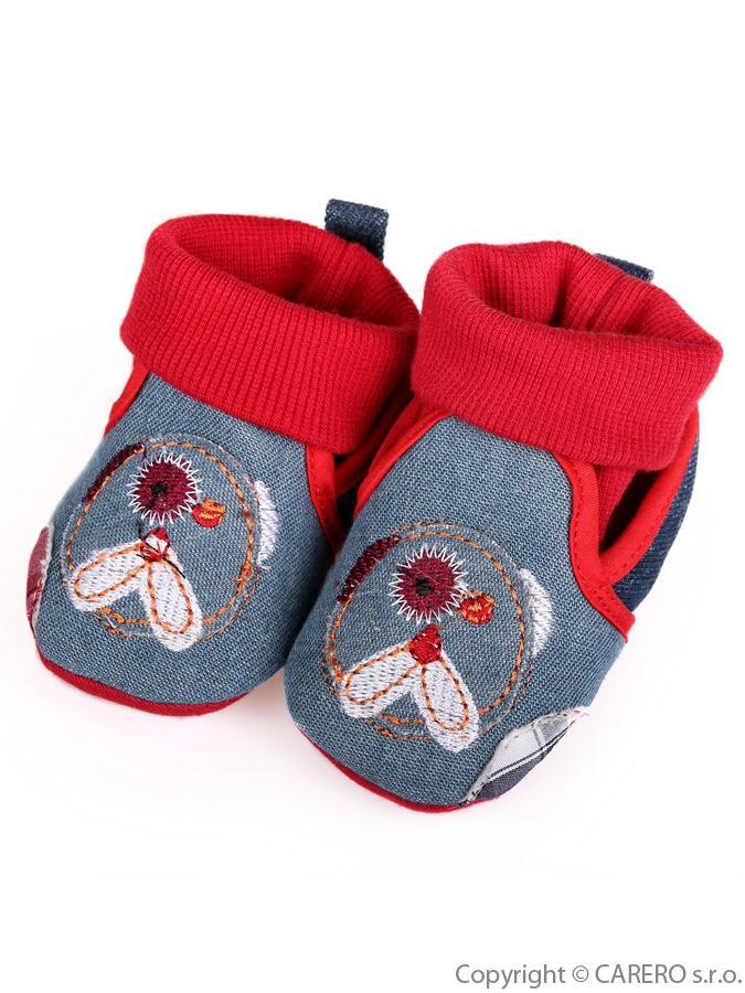 Detské capačky Bobo Baby 3-6m červeno-modré