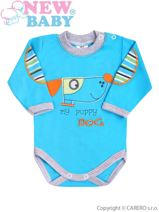 Dojčenské body s dlhým rukávom New Baby Puppik