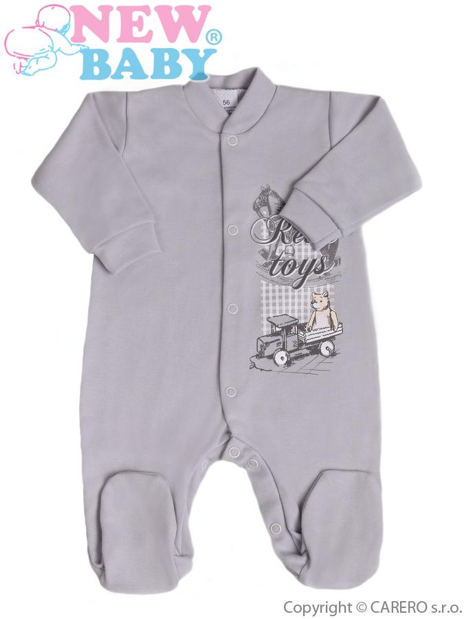Dojčenský overal New Baby Retro šedý
