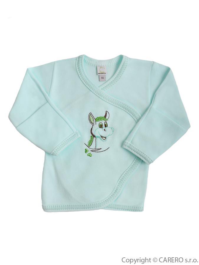 Dojčenská košieľka Bobas Fashion Oslík zelená