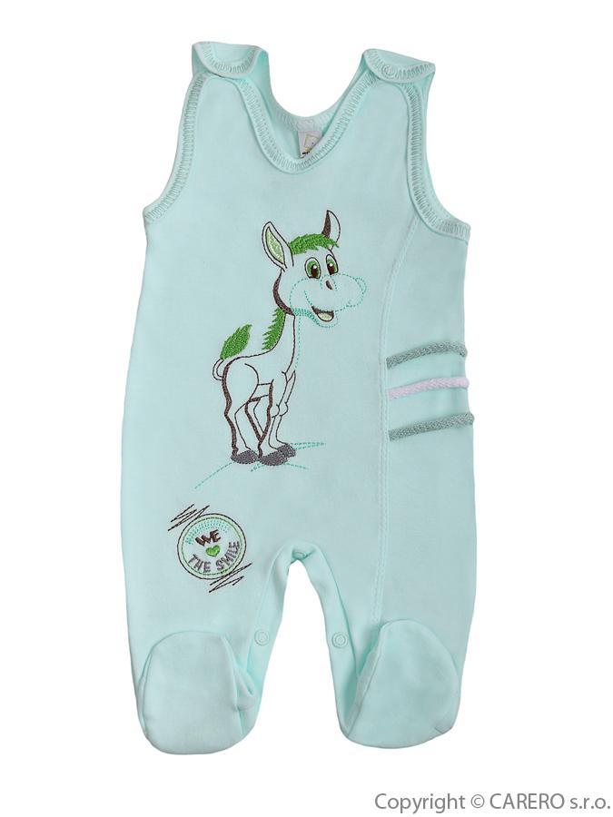 Dojčenské dupačky Bobas Fashion Somárik zelené