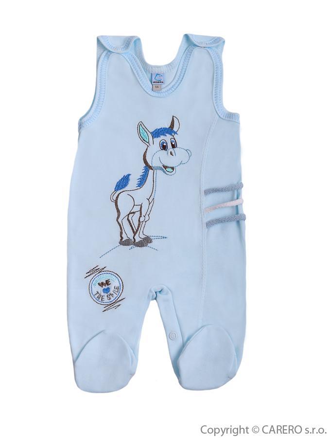 Dojčenské dupačky Bobas Fashion Somárik modré