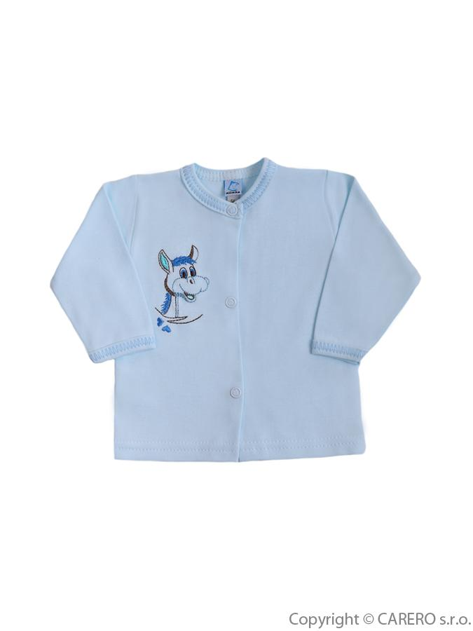 Dojčenský kabátik Bobas Fashion Oslík modrý