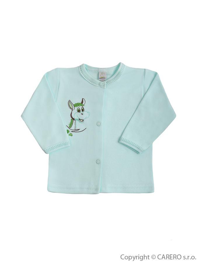 Dojčenský kabátik Bobas Fashion Oslík zelený