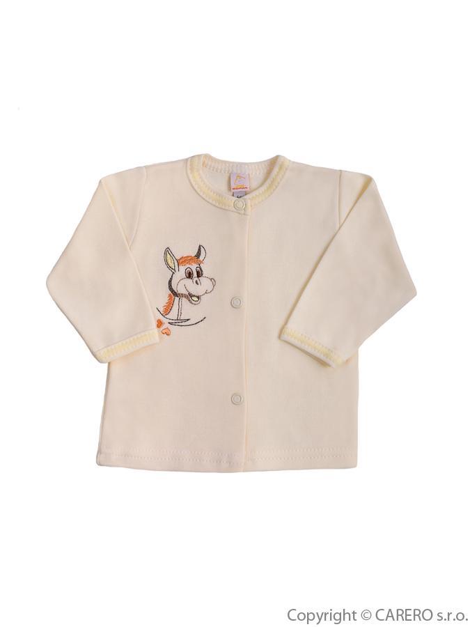 Dojčenský kabátik Bobas Fashion Somárik béžový