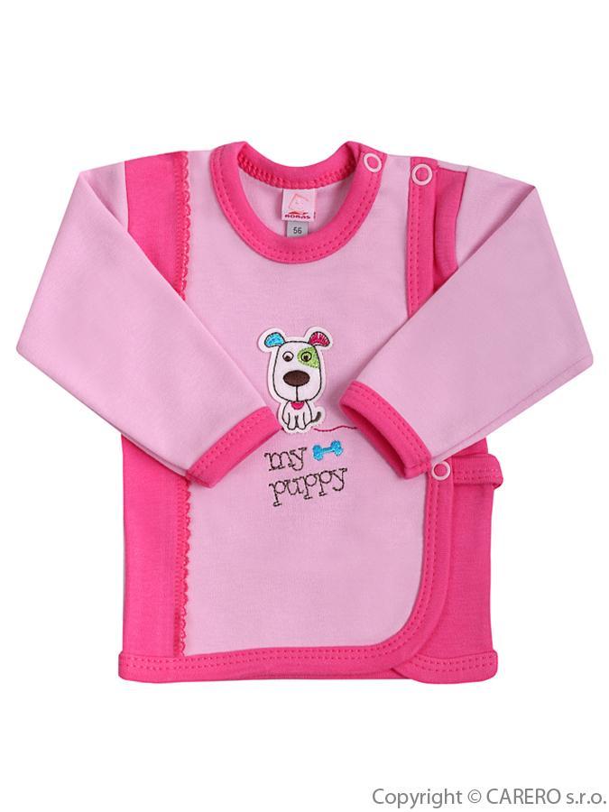 Dojčenská košieľka Bobas Fashion Happy Balloon ružová