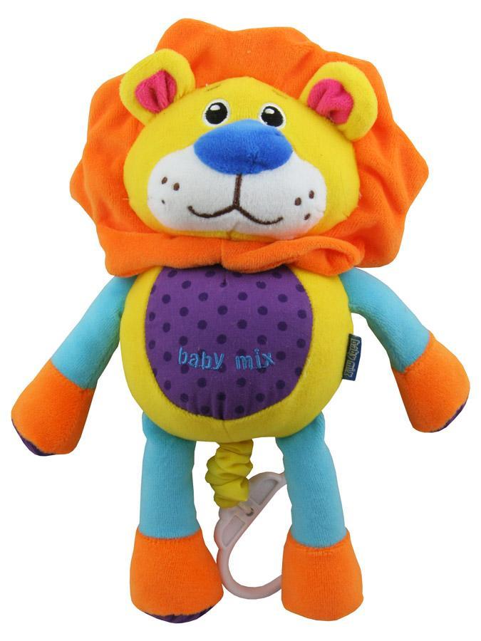 Detská plyšová hračka s hracím strojčekom Baby Mix lev