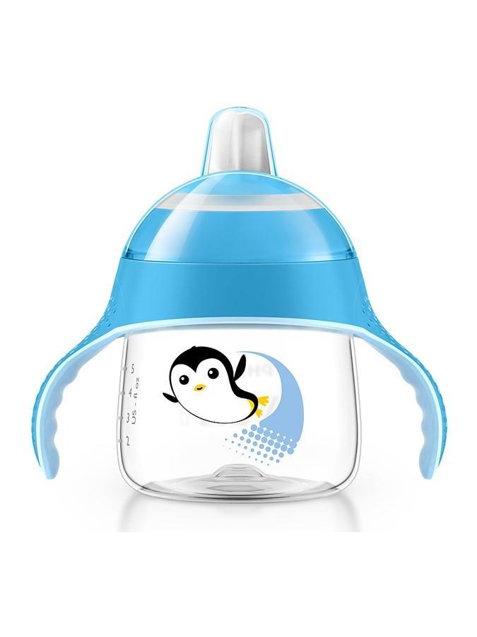 Kúzelný hrnček Avent Pingu 200 ml modrý