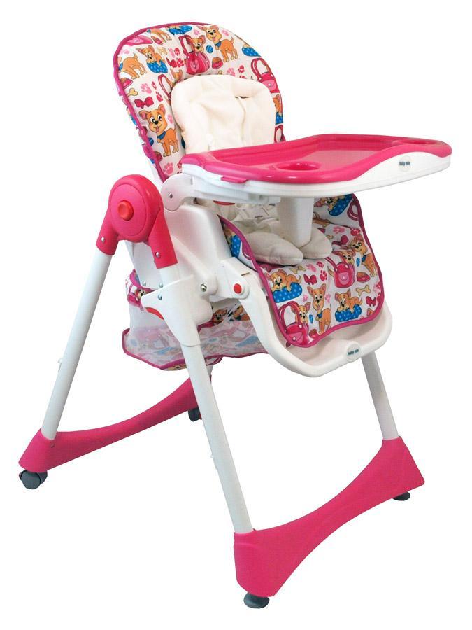 Jedálenská stolička Baby Mix ružova