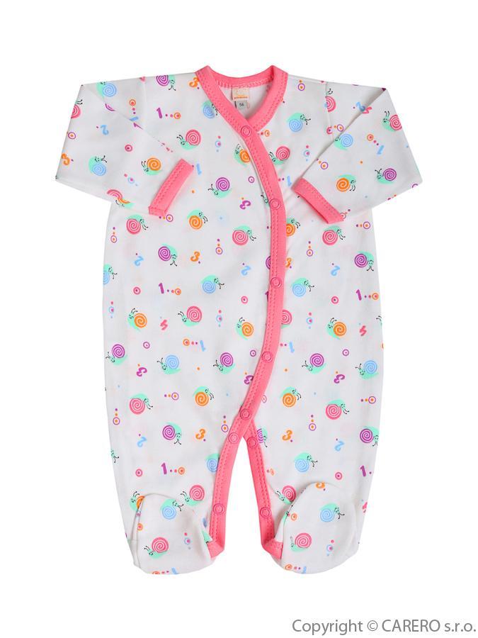 Dojčenský overal Bobas Fashion Obláčik bielo-ružový