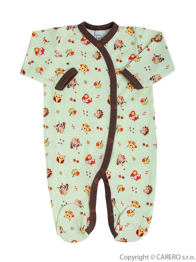 Dojčenský overal Bobas Fashion Obláčik zelený