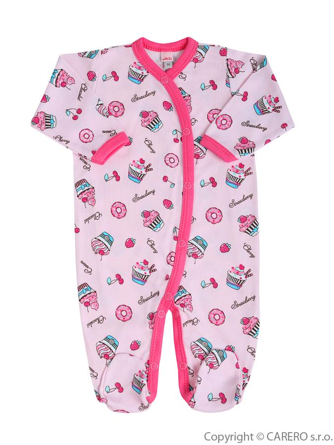 Dojčenský overal Bobas Fashion Obláčik ružový
