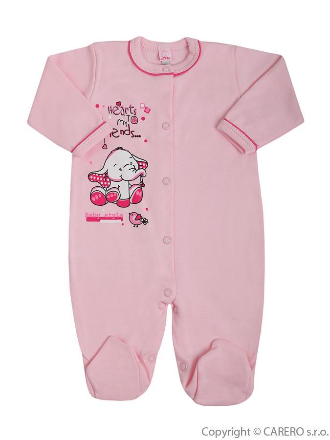 Dojčenský overal Bobas Fashion Benjamin ružový