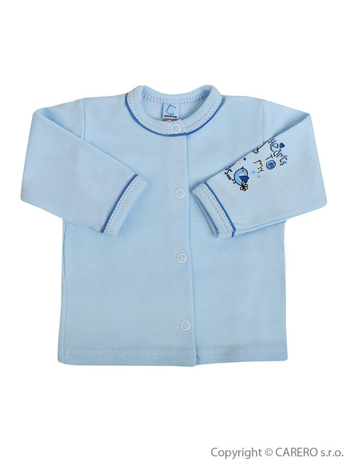 Dojčenský kabátik Bobas Fashion Benjamin modrý