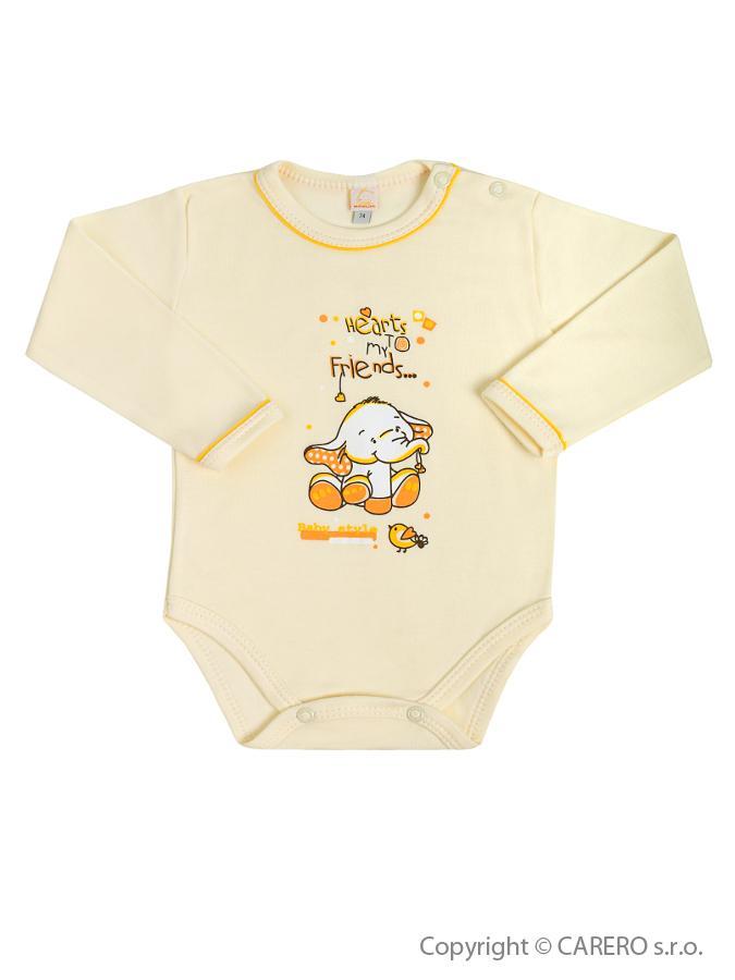 Dojčenské body s dlhým rukávom Bobas Fashion Benjamin bežové