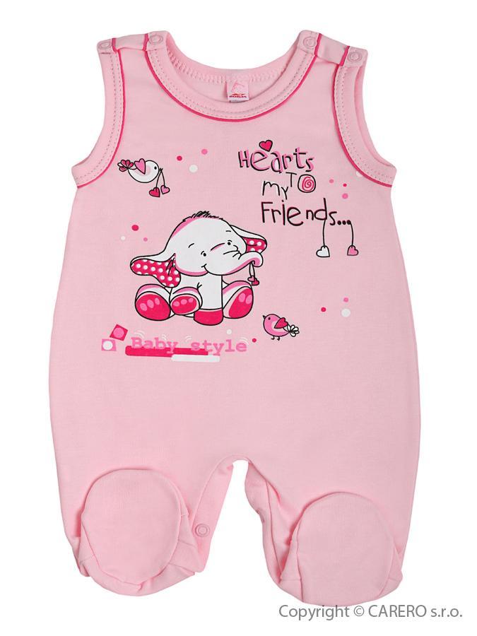 Dojčenské dupačky Bobas Fashion Benjamin ružové