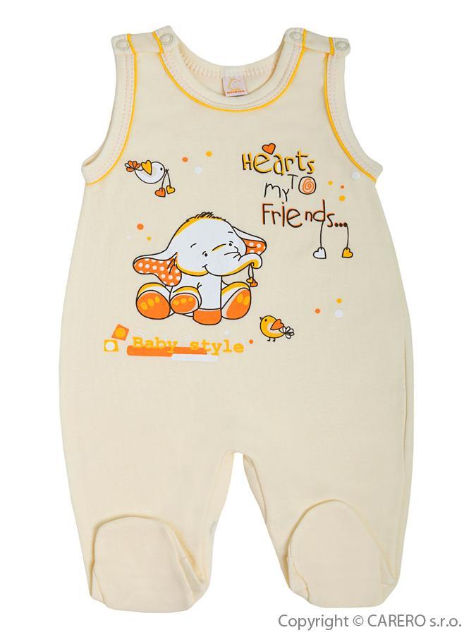 Dojčenské dupačky Bobas Fashion Benjamin bežové