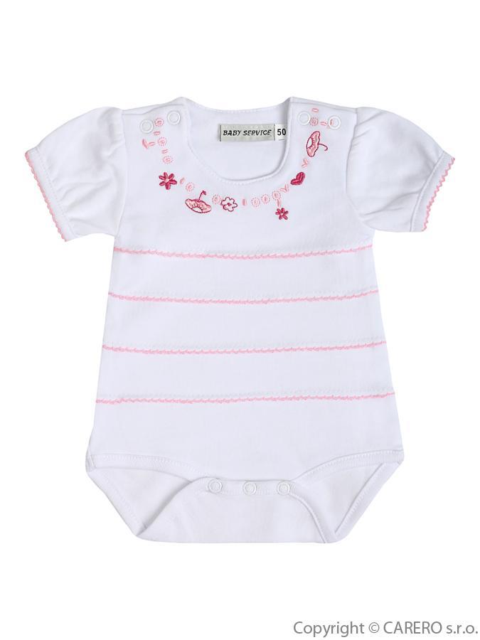 Dojčenské body s krátkym rukávom Baby Service Dáždnik