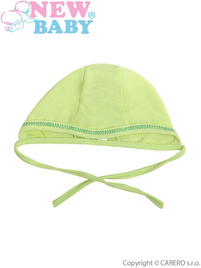 Dojčenská čiapočka New Baby zelená
