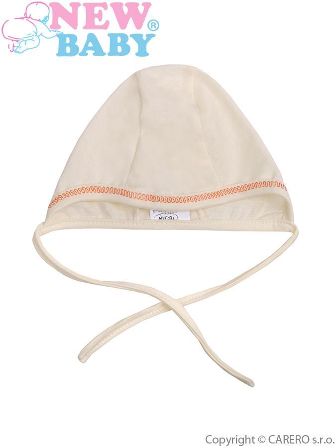 Dojčenská čiapočka New Baby béžová