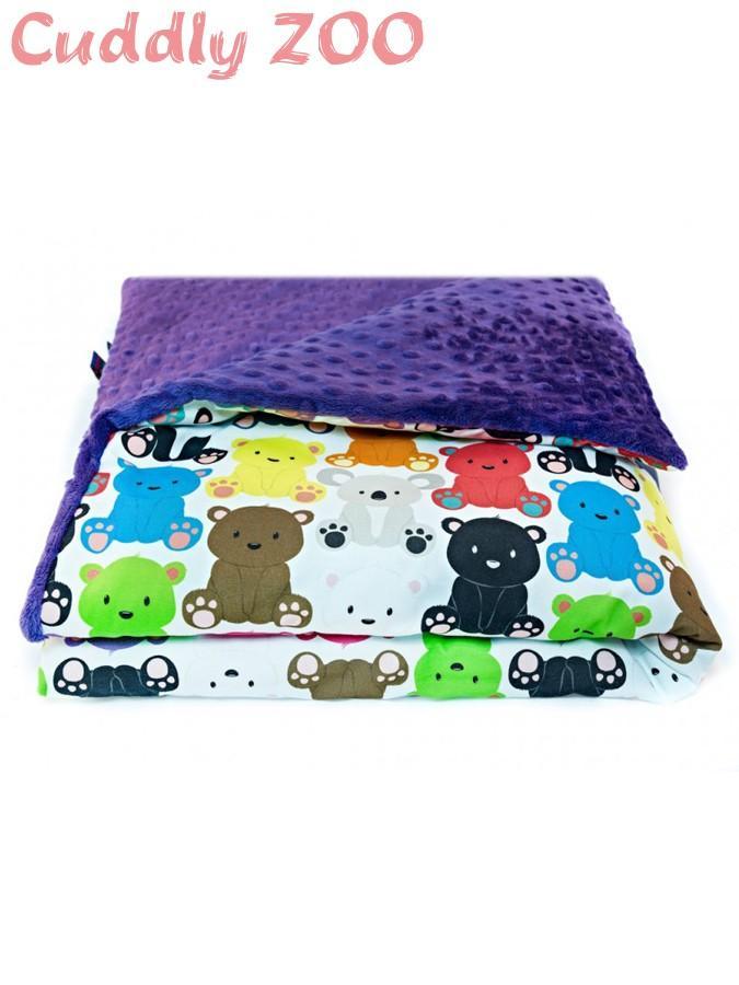 Detská deka Cuddly Zoo Medvedíci fialová